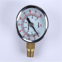 Durable Light Weight Easy To Read Clear Hongqi Pressure Gauge Bottom Connection