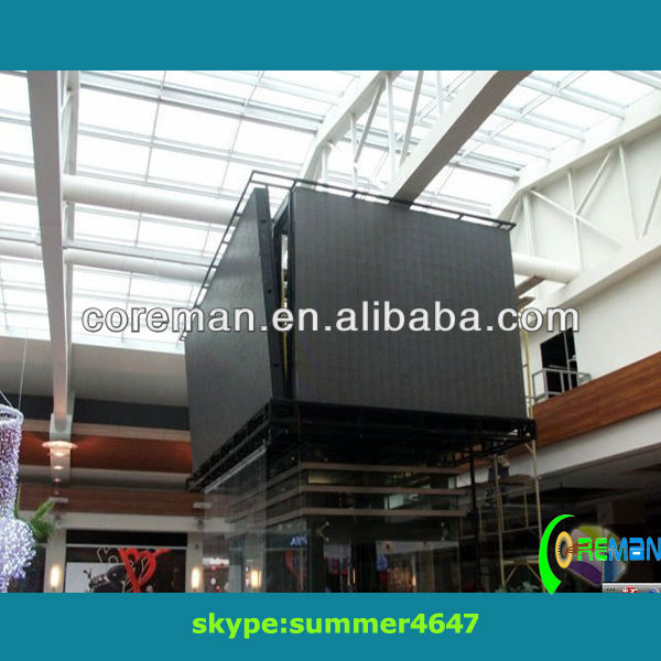 advertising display double sided outdoor screen signs/indoor programmable scrolling led sign
