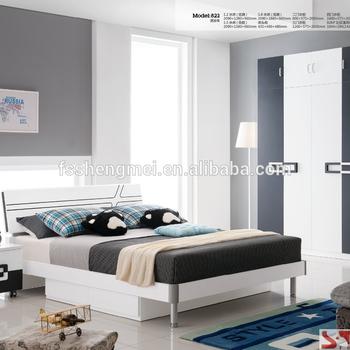 Color Mdf Drawers Bed Bedside Table Wardrobe Computer Desk Boys Kids  Children Bedroom Furniture - Buy Children Bedroom Furniture,Black White  Gray ...