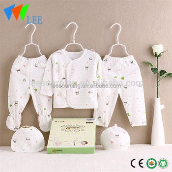 ae054c0ba2dd 100% Cotton Newborn Clothing Baby Gift Box Set Clothes In Hanger ...
