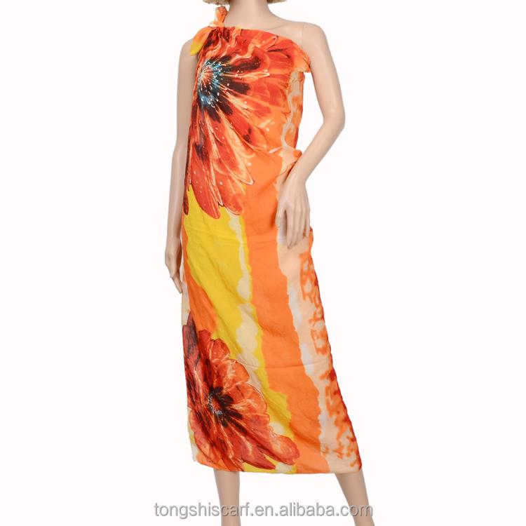H836 339-03 Pareo Beach Sarong Wide Shawl Fashion Hijab China ...