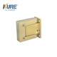 Self close gold glass door hinge for glass thickness 10mm
