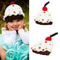 Infant Baby Boys Girls Crochet Knit skull Cupcake Shape Beanie gorro Hat Photography Props cap for