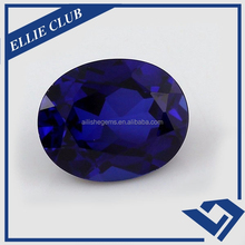 112# Blue Oval Shape Style Synthetic Spinel