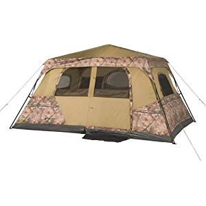 Ozark Trail 13' x 9' Instant Cabin Tent with Realtree Xtra Camo, Sleeps 8