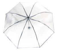 new invention portable fashion lady transparent folding umbrella clear
