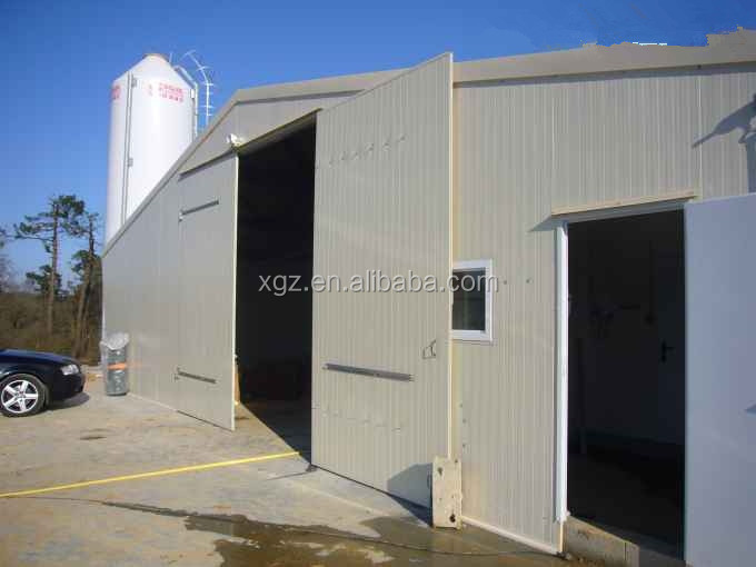 cheap modern steel broiler poultry structure with automatic chicken farming system