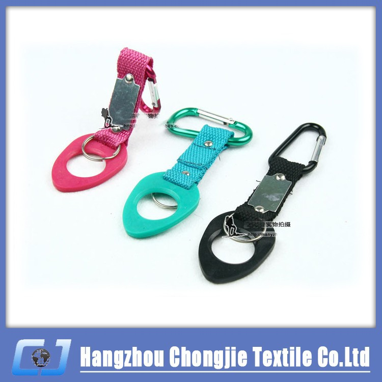 Promotion Gifts Travel Carabiner Hook Outdoor Water Holder Bottle Clip Strap Keychain Hanging Bottle Buckle