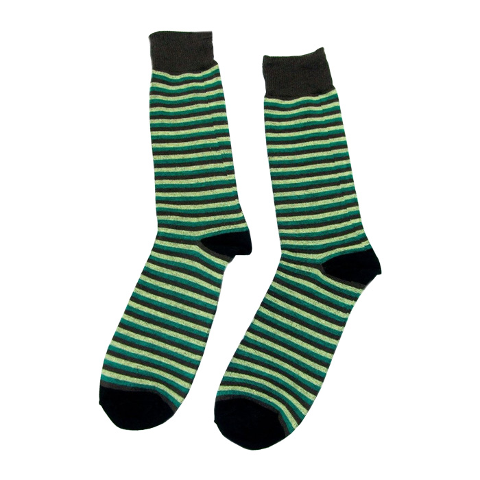 High Quality Combed Cotton Men Strip Socks Color Casual Novelty Dress Business Socks