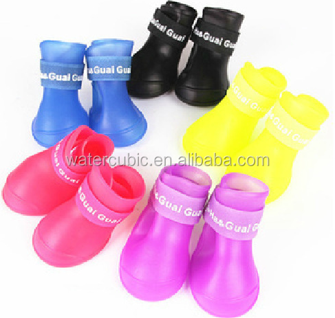 2017 Summer Pet Dog Shoes Waterproof Rain Pet Shoes for Dog Puppy Rubber Boots Portable Durable Puppy Shoes Pet Products
