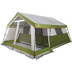 Ozark Trail 10-Person Family Cabin Tent with Screen Porch | Open-Air Living Space | Storage Pockets and Hanging Corner Shelf