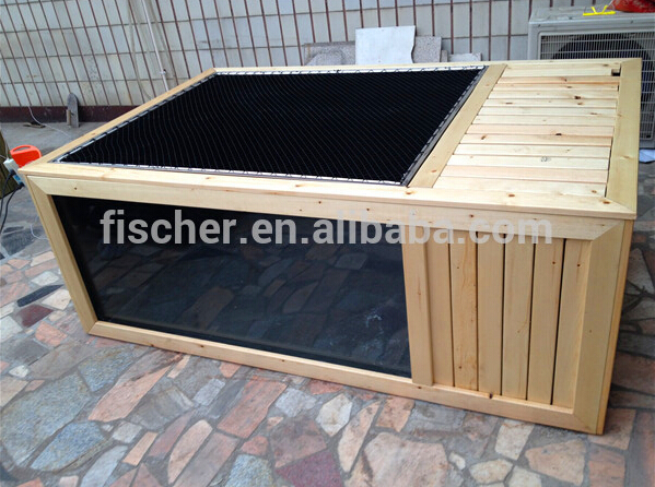 Hot selling aquarium koi pond frp fiberglass fish tank for Koi pond viewing window