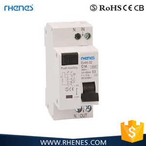 DPN RCBO 6KA type B C D 6A~32A RCBO Residual Current Circuit Breaker with Overcurrent and overload Protection