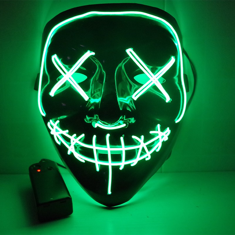 Noël EL Fil Cosplay LED Fête Costume Masque D'halloween