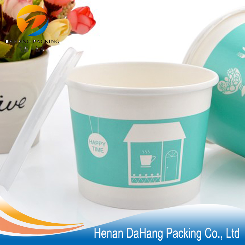Disposable ice cream paper packaging container cups / tubs and lids