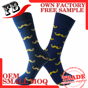 Custom classic fashion A mustache cartoon Men sock