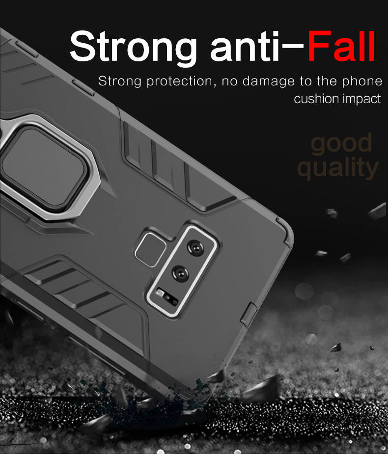 Oem Welcome finger ring kickstand hard armor note 9 case for samsung galaxy note 9 case phone cover