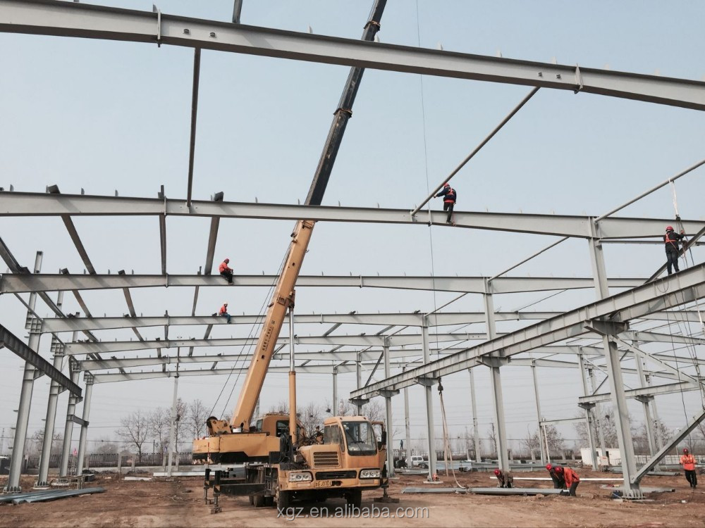 Solid durability steel structure workshop/warehouse