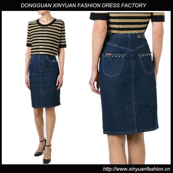 New Women Fashion Denim Long Pencil Skirts,Latest Fashion Denim Pencil Skirts For Ladies