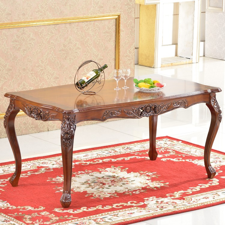 Affordable Dining Furniture: Affordable Rubber Wooden Dining Table Dining Room
