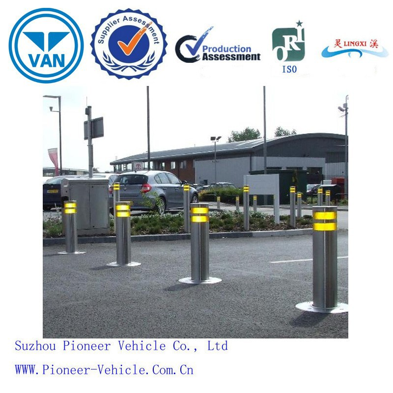 2015 best automatic rising stainless steel bollards with LED light and hydraulic system