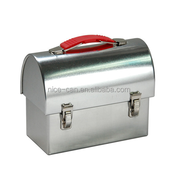 Attractive Metal Lunch Tin Part - 8: Custom Blank Plain Portable Metal Lunch Box With Lock And Handle Lunch Tin  Box