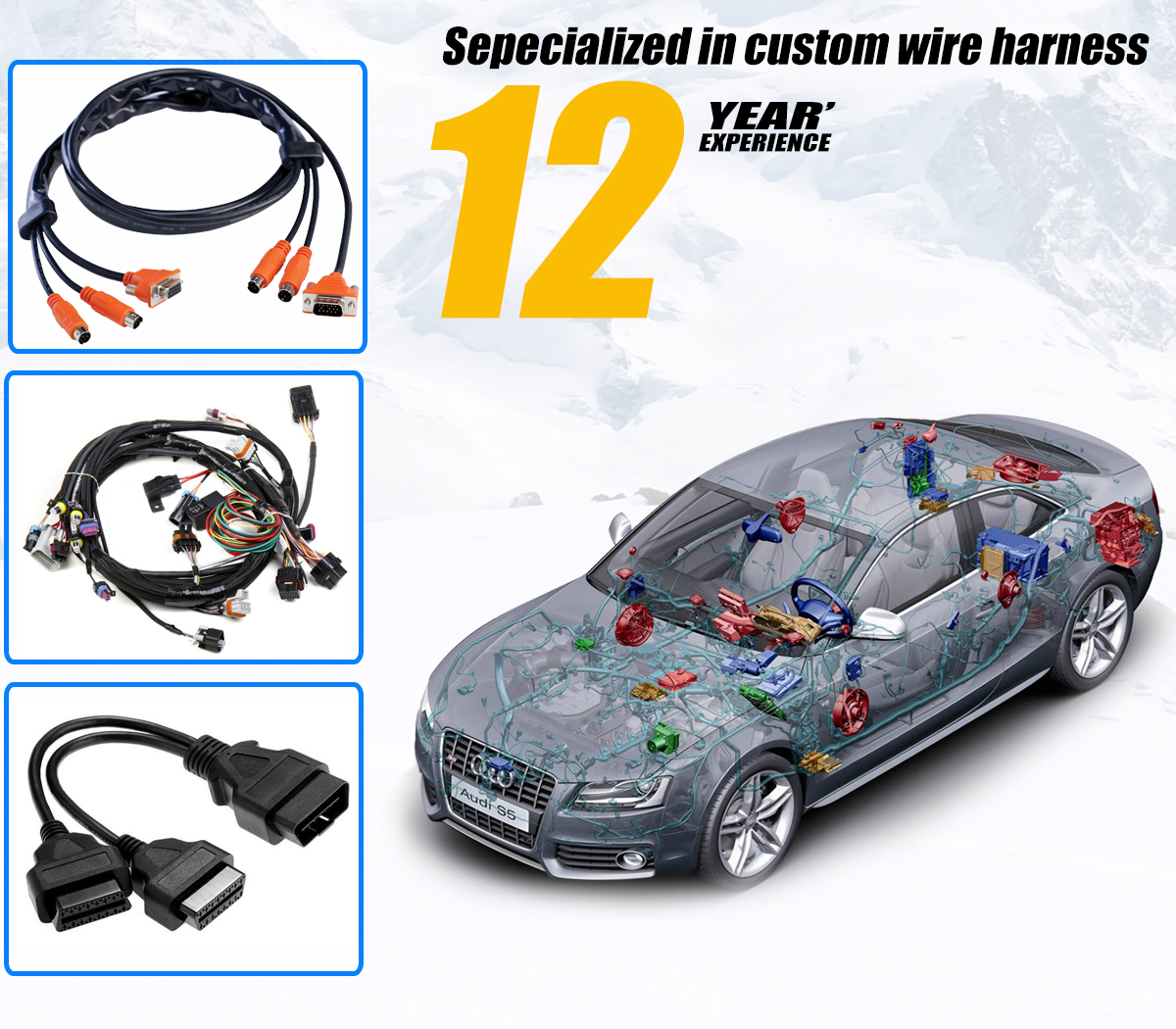 Waterproof Custom Auto Wiring Harness Schematic Diagrams Topcables Electronic Technology Limited Audio Video Cable Hot Rod Wire