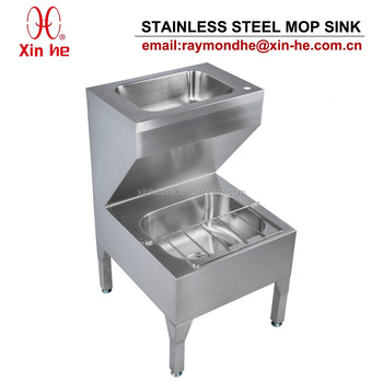 Stainless Steel Janitorial Unit With Hand Wash Basin, Stainless Steel  Bucket Sink Mop Sink Cleaner