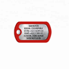Silicone Cover Engraved Unique ID Stainless Steel Dog Tag