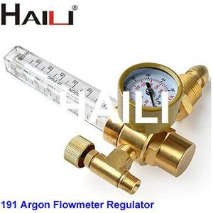 Full brass body 191 Argon CO2 gas regulator with flowmeter