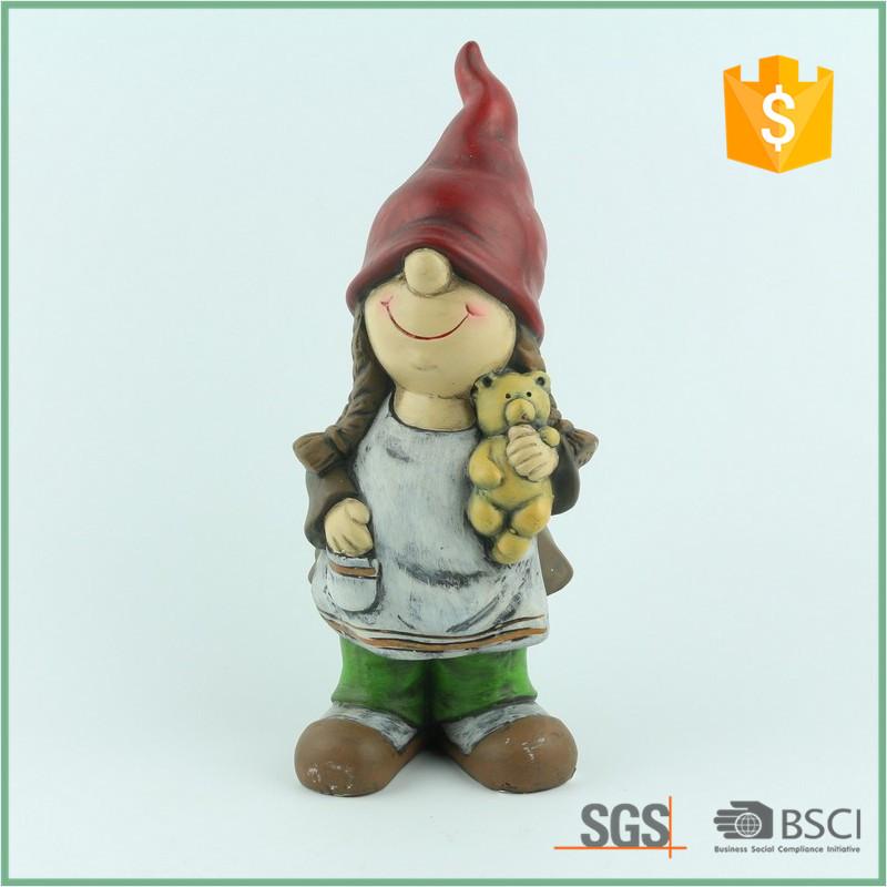 Girl With Teddi Bear Garden Gnomes Cheap Price Buy Garden Gnomes