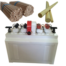 CE NEWLY DESIGN wooden dowel rods with round ends machine/threaded wood rod machine