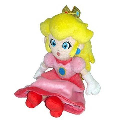 "Little Buddy Toys Official Super Mario Plush 8"" Princess Peach"