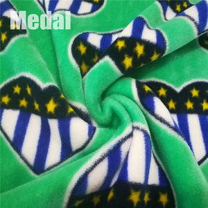 Quality warranted emboss velboa printed plush material blanket fabric