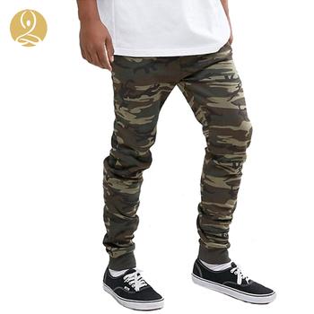 5b46671328100 Custom Men Super Skinny Camo Joggers Pants with Side Pocket Designs