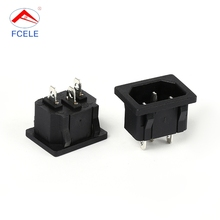 Factory outlets fashion appearance black ac power outlet