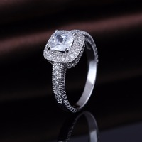2017 New Arrival Value 925 Silver Aaa Zircon Diamond Engagement Ring Jewelery