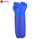 Darlingwell brand safety sleeves Chemical-Resistant Gloves 100% water proof blue PVC gloves oilfield gloves China