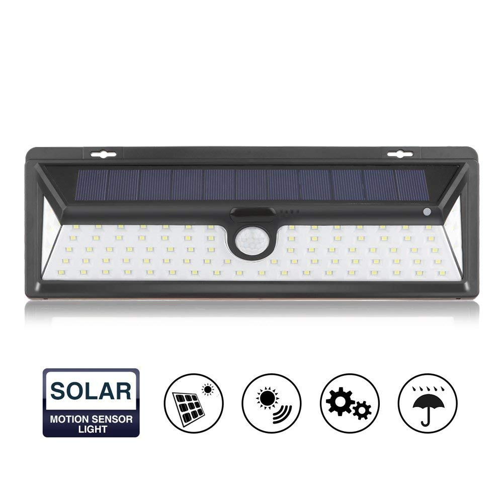 Solar Lights Outdoor,Waterproof 90 LED Solar PIR Motion Sensor Wall Light Wireless Security Night Lighting with Easy Install for Patio, Deck, Yard, Garden, Fence, Driveway, Garage(1 Pack)