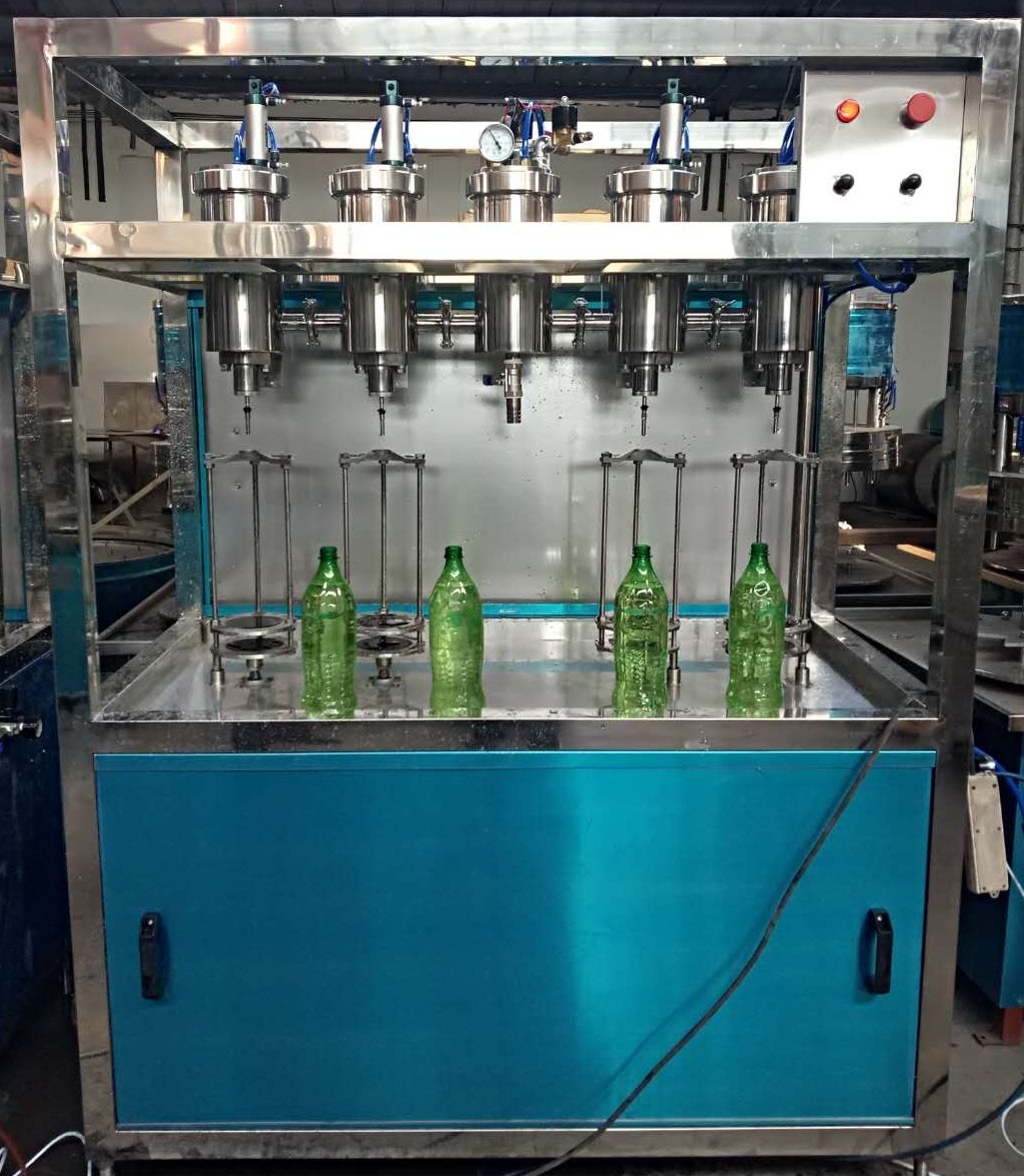 Semi-automatic carbonated beverage with syrup filling machine 1000BPH