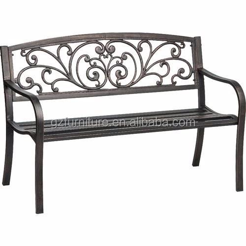 Panchine Da Giardino In Metallo.Decorativi In Ferro Battuto Panca Da Giardino In Metallo Panchina