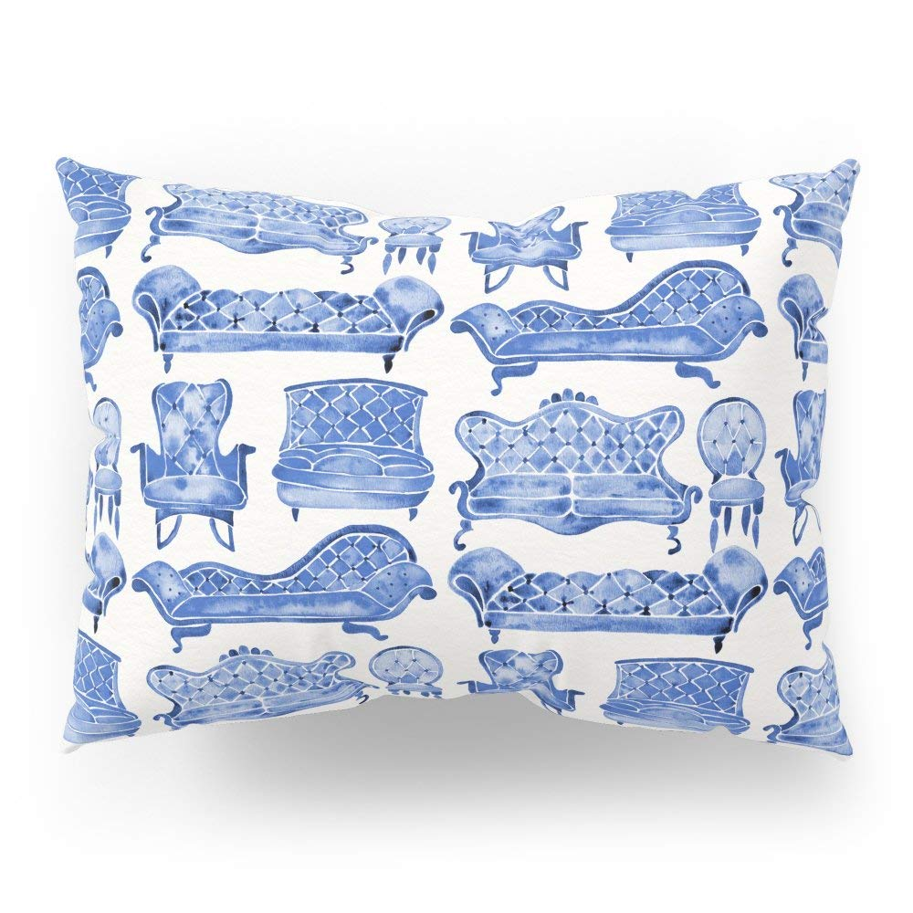 "Society6 Victorian Lounge Navy Palette Pillow Sham Standard (20"" x 26"") Set of 2"
