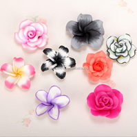 Wholesale various polymer clay flowers diy flower beads for jewelry accessories Yiwu market products