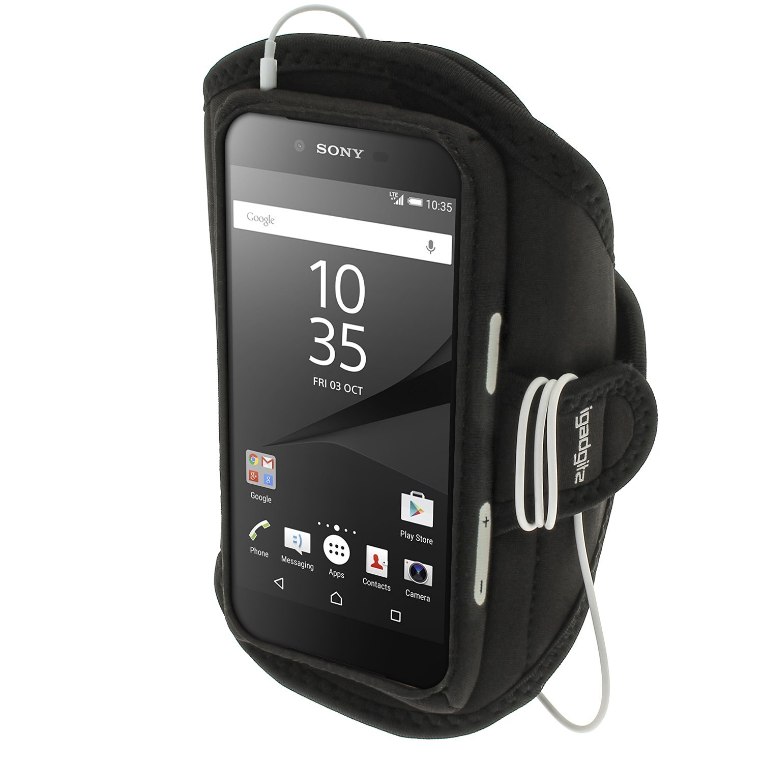 Get Quotations · iGadgitz Water Resistant Black Sports Jogging Gym Armband for Sony Xperia Z5 E6603 E6653