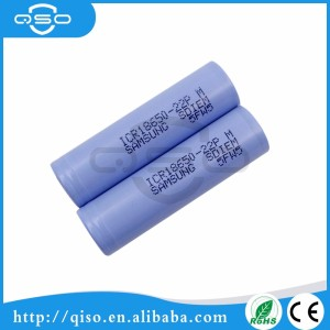 Samsung 18650 3.7v 2200mAh ICR18650-22P 22pm 18650 li-ion battery Samsung lithium ion battery cell 18650 battery