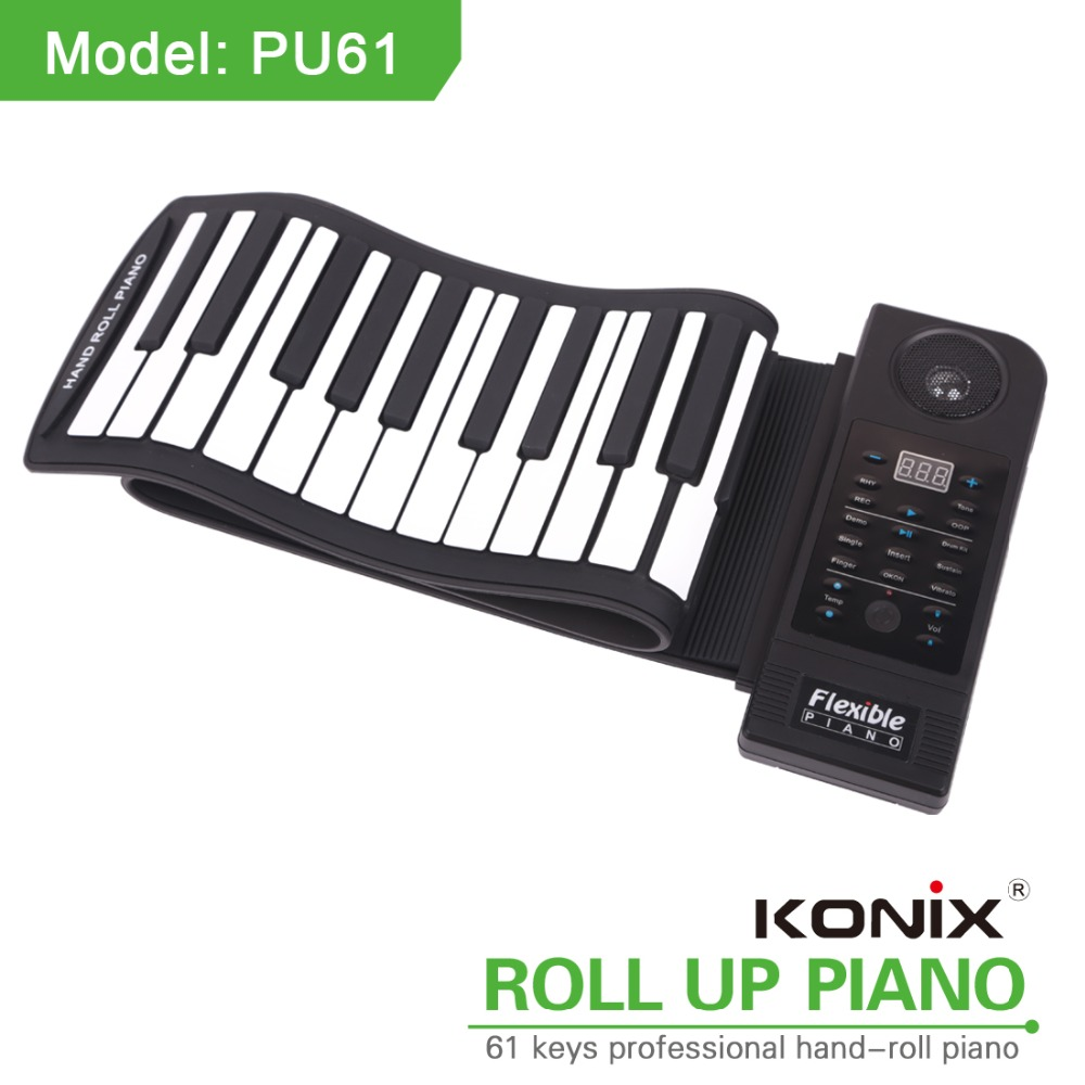 China New Elegance Portable Roll Up Piano MIDI 61 Keys Electronic Portable Piano for Kids