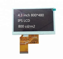 "4,3 ""zoll ips 800x480 800 nit tft lcd display modul"