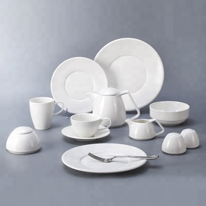 Low Price Modern White Porcelain Tableware Set