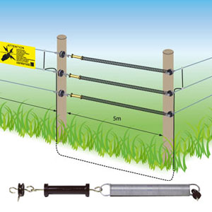 Lydite Electric Fence Spring Gate Set With Handle