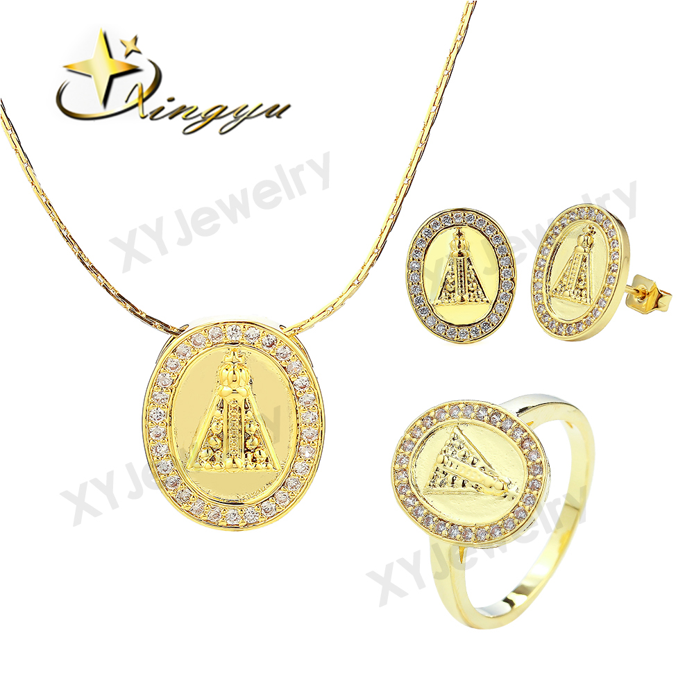 Best-selling oval gold filled brazil jewelry set